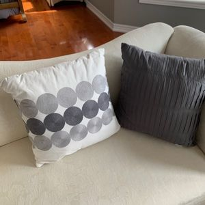 Two beautiful decorative and comfortable pillows
